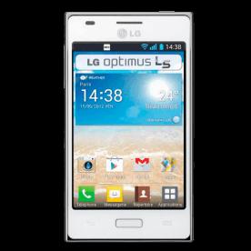 """Smartphone LG E612F Optimus L5 Branco - 3G - Wi-Fi - 4"""" - 5MP - Android 4.0 - Desbloqueado"""