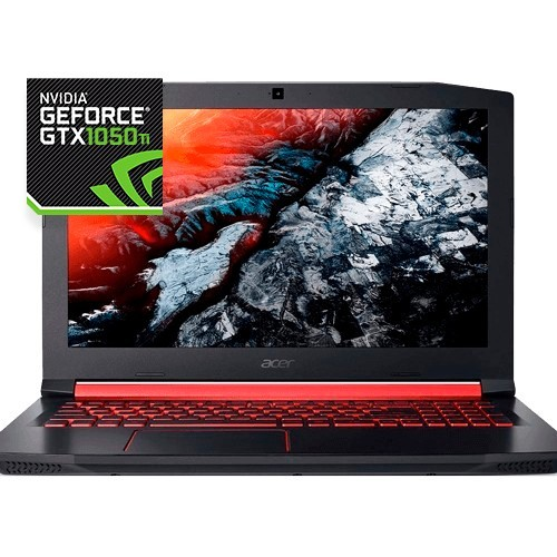 "Notebook Gamer Acer Nitro AN515-51-78D6 - Core i7-7700HQ - GeForce GTX 1050 Ti - RAM 16GB - HD 1TB - SSD 128GB - 15.6"" - Win 10"
