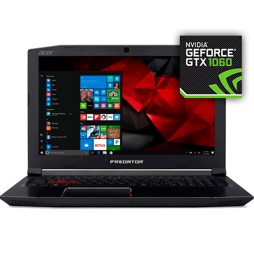 "Notebook Gamer Acer Predator G3-572-75L9 - i7-7700HQ - RAM 16GB - HD 2TB - GeForce GTX 1060 - Tela 15.6"" - Windows 10"