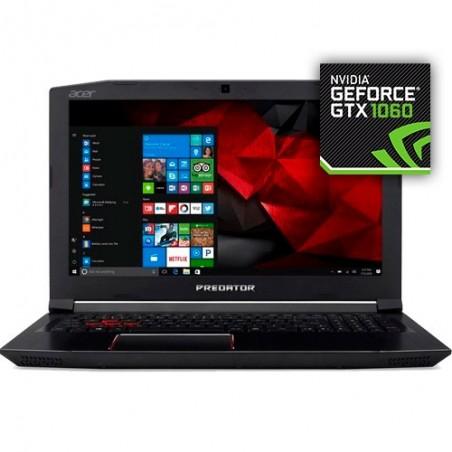 "Notebook Gamer Acer Predator G3-572-75L9 - i7-7700HQ - RAM 16GB - HD 2TB - GeForce GTX 1060 - Tela 15.6"" - Windows 10"