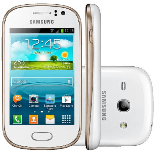 """Smartphone Samsung Galaxy Fame Duos S6812 - 5MP - Android 4.1 - 3.5"""" - 4GB - Dual Chip - 3G - Branco"""