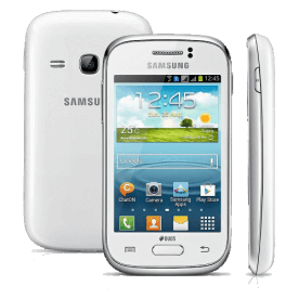 "Smartphone Samsung Galaxy Young Duos TV S6313 Branco - Dual Chip - Câmera 3MP - 4GB - Tela 3.2"" - Android 4.1"