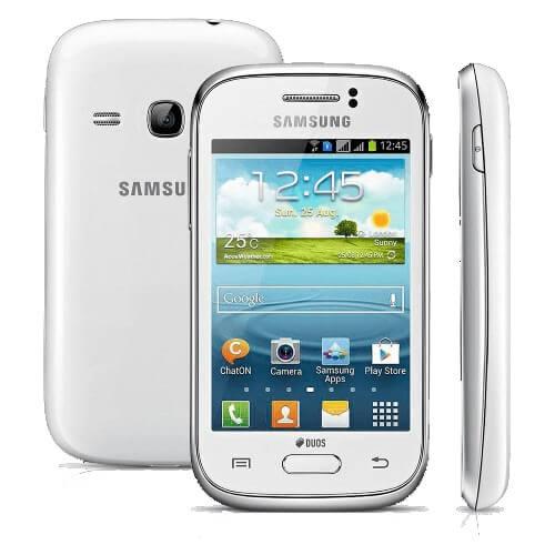 "Smartphone Samsung Galaxy Young Duos TV S6313 Branco - Dual Chip - Câmera 3MP - 4GB - Tela 3.2"" - Android 4.1"