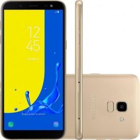 "Smartphone Galaxy J6 - Dourado - 32GB - RAM 2GB - Octa Core - 4G - 13MP - Tela 5.6"" - Android 10"
