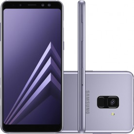 "Smartphone Samsung Galaxy A8+ - Ametista - 64GB - RAM 4GB - Octa Core - 4G - 16MP - Tela 5.6"" - Android 9"