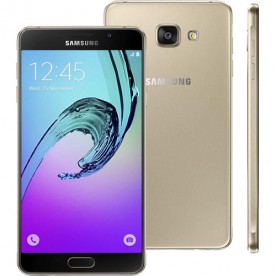 "Smartphone Samsung Galaxy A7 - Dourado - 16GB - RAM 3GB - Octa Core - 4G - 13MP - Tela 5.5"" - Android 5.1"