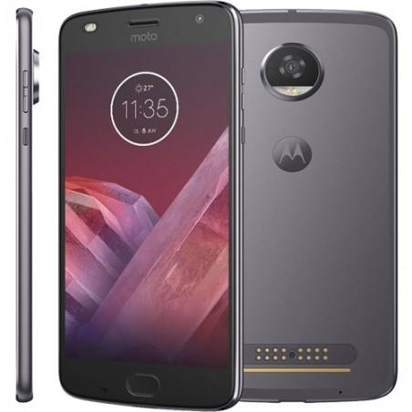 "Smartphone Moto Z2 Play - Platinum - 64GB - RAM 4GB - Octa Core - 4G - 12MP - Tela 5.5"" - Android 7.1"