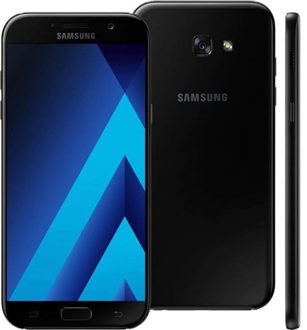 """Smartphone Samsung Galaxy A7 - Preto - 32GB - RAM 3GB - Octa Core - 4G - 16MP - 5.7"""" - Android 8"""