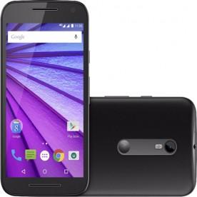 "Smartphone Motorola Moto G3 - Preto - 16GB - RAM 1GB - Quad Core - 4G - 13MP - Tela 5"" - Android 5.1"