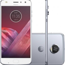 "Smartphone Motorola Moto Z2 Play Power Edition - Azul - 64GB - RAM 4GB - Octa Core - 4G - 12MP - Tela 5.5"" - Android 7"