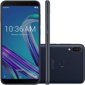 """Smartphone Asus Zenfone Max Pro M1 - Preto - 32GB - RAM 3GB - Octa Core - 4G - 13MP - Tela 6"""" - Android 8"""