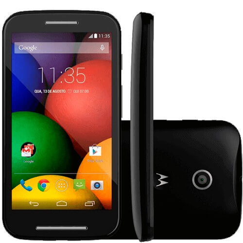 "Smartphone Motorola Moto E XT1021 Preto - 3G - 5MP - 4GB - Tela 4.3"" - Android 4.4"