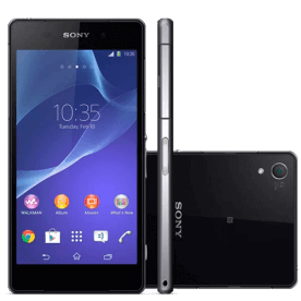 "Smartphone Sony Xperia Z2 D6543 Preto - 16GB - RAM 3GB - HD 5.2"" - 20.7MP - 4G LTE - TV Digital - Android 4.4"