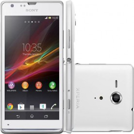 "Smartphone Sony Xperia SP - Branco - 8GB - RAM 1GB - Dual Core - 4G - 8MP - Tela 4.6"" - Android 4"