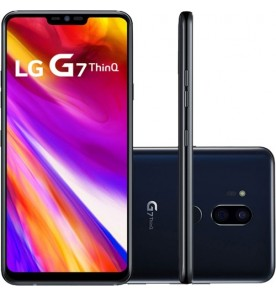 "Smartphone LG G7 ThinQ - Preto - 64GB - RAM 4GB - Octa Core - 4G - 16MP - Tela 6.1"" - Android 9"
