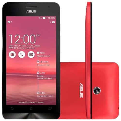 "Smartphone ZenFone 5 ASUS - Vermelho - 8GB - Intel 1.2 Ghz - A501CG-2C453BRA- Dual Chip - Tela 5"" - Android 4.3"