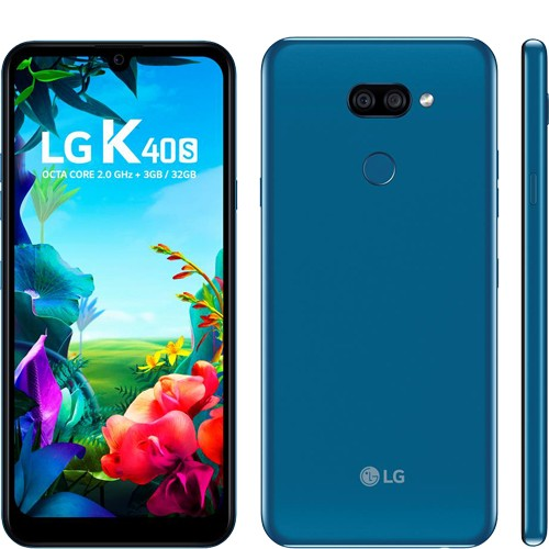 "Smartphone LG K40S - Azul - 32GB - RAM 3GB - Octa Core - 4G - 13MP - Tela 6.1"" - Android 9"