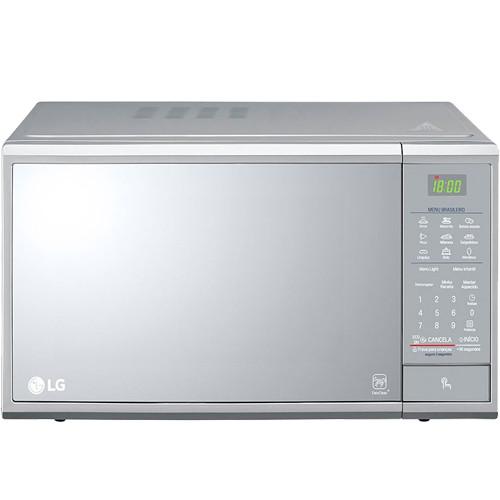 Forno Micro-ondas LG EasyClean MS3095LR - Prata - 30 Litros - 127V