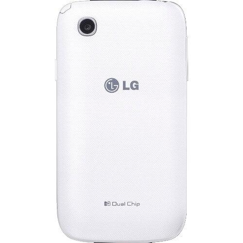 "Smartphone LG L40 D175 Branco - TV Digital - Dual Chip - Wi-Fi - 3G - Tela de 3.5"" - Câmera de 3MP - Android 4.4"