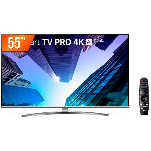 "Smart TV LED Pro LG 55UM761C0SB 55"" - Ultra HD 4K - HDMI - USB - Wi-Fi - ThinQ AI - Conversor Digital"