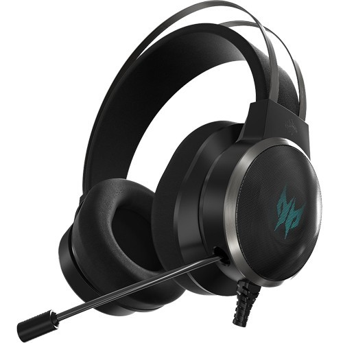 Headset Gamer Acer Predator Galea 500 - Preto - 3D SoundScape - Virtual 7.1 Surround Sound - USB