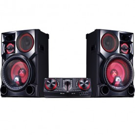 Mini System LG CJ98 Xboom - Preto - Bluetooth - USB - CD - MP3 - Karaokê - 2700 Watts