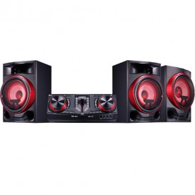 Mini System LG CJ88 Xboom - Preto - Bluetooth - Dual USB - CD - MP3 - 2250 Watts