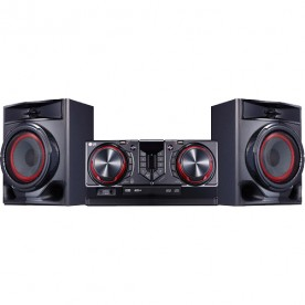 Mini System LG CJ44 XBoom - Preto - Bluetooth - USB - CD - MP3 - 440 Watts