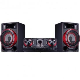 Mini System LG CJ87 Xboom - Preto - Bluetooh - Karaokê - USB - CD - MP3 - 1800W