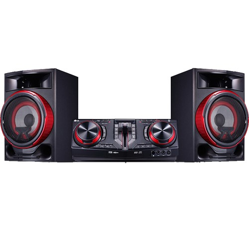 Mini System LG CJ87 Xboom - Preto - Bluetooh - Karaokê - USB - CD - MP3 - 1800W