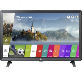 "Smart TV Monitor LED LG 24"" 24TL520S-PS - HD - HDMI - USB - Wi-Fi - Conversor Digital"