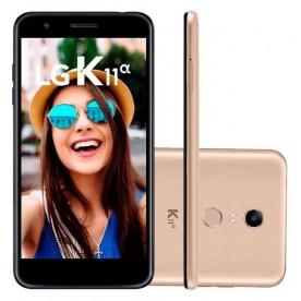 "Smartphone LG K11A - Dourado - 16GB - RAM 2GB - Octa Core - 4G - 8MP - 5MP - Tela 5.3"" - Android 7.0"