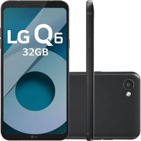 "Smartphone LG Q6 - Preto - 32GB - RAM 3GB - Octa Core - 4G - 13MP - Tela 5.5"" - Android 7.1"