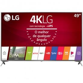 "Smart TV LED LG 49"" 49UJ6525 - Ultra HD 4K - HDMI - USB - Wi-Fi - WebOS 3.5 - Conversor Digital"