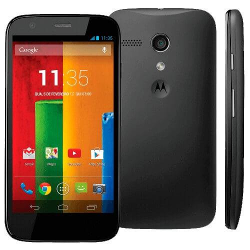 "Smartphone Motorola Moto G Preto XT1032 - 3G - Wi-Fi - 8GB - Tela de 4.5"" - 5MP - Android 4.3 - Desbloqueado"