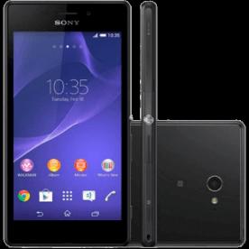 """Smartphone Sony Xperia M2 Aqua D2403 Preto - 4G - 8GB - Tela 4.8"""" - 8MP - Android 4.4"""
