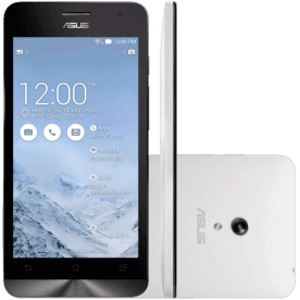 "Smartphone ZenFone 5 ASUS - Branco - A501CG-2B481BRA - Intel 1.2 GHz - 8GB - Dual Chip - Tela 5"" - Android 4.3"