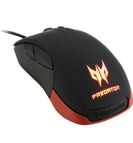 Mouse Gamer Acer Predator by Steelseries PMW3310 - Preto - 6 Botões - 6500 DPI