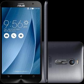 "Smartphone ZenFone 2 Asus ZE551ML-6J544WW - Intel Atom Quad Core - 16GB - 4G - RAM 4GB - Tela 5.5"" - Android 5 - Prata"
