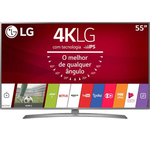 "Smart TV LED LG 55"" 55UJ6585 - Ultra HD 4K - HDR Ativo - HDMI - USB - Wi-Fi - WebOS - Conversor Digital"