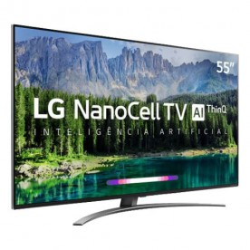 "Smart TV LED LG 55SM8600PSA NanoCell 55"" - Ultra HD 4K - HDMI - USB - Wi-Fi - ThinQ AI - Controle Smart Magic"