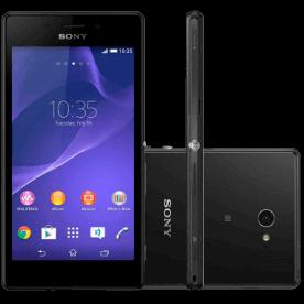 """Smartphone Sony Xperia M2 D2305 Preto - 8GB - 3G - 8MP - Tela 4.8"""" - Android 4.3"""