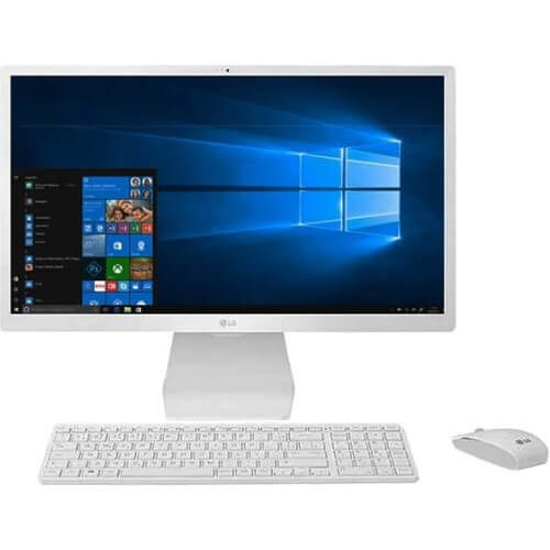 "Computador All In One LG 24V570-C.BJ31P1 - Branco - Intel Core i5-7200U - RAM 4GB - HD 1TB - Tela 24"" - Windows 10"