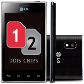 "Smartphone LG E615F Optimus L5 - Dual Chip - 3G - Wi-Fi - 4"" - 5MP - Android 4.0 - Preto"