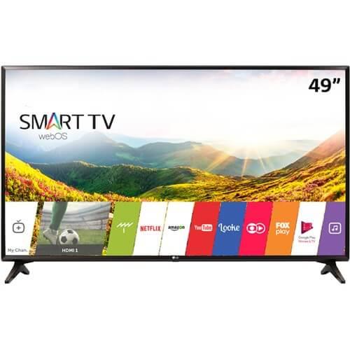 "Smart TV LED 49"" LG 49LJ5550 - IPS - Full HD - HDMI - USB - Wi-Fi - WebOS - Conversor Digital"