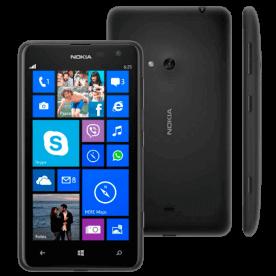 """Smartphone Nokia Lumia 625 Preto com armazenamento interno de 8GB, câmera traseira de 5MP, conexões móveis 4G LTE, Bluetooh e Wi-Fi, tela sensível ao toque de 4.7"""", processador Qualcomm Snapdragon..."""