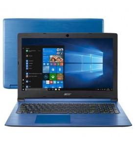 """Notebook Acer Aspire 3 A315-53-C6EB - Azul - Intel Core i5-8250U - RAM 8GB - SSD 256GB - HD 1TB - Tela 15.6"""" - Windows 10"""