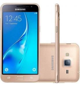 "Smartphone Samsung Galaxy J2 Prime - Dourado - 8GB - RAM 1GB - Quad Core - 4G - 8MP - Tela 5"" - Android 6"