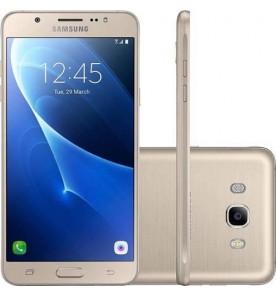 "Smartphone Samsung Galaxy J7 Metal 2016 - Dourado - 16GB - RAM 2GB - Octa Core - 4G - 13MP - Tela 5.5"" - Android 8.1"