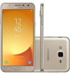 "Smartphone Samsung Galaxy J7 Neo - Dourado - 16GB - RAM 2GB - Octa Core - 4G - 13MP - Tela 5.5"" - Android 7.0"
